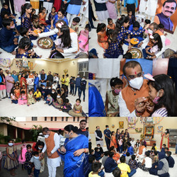 बाल निकेतन में बच्चों के साथ खुशियां बांटी