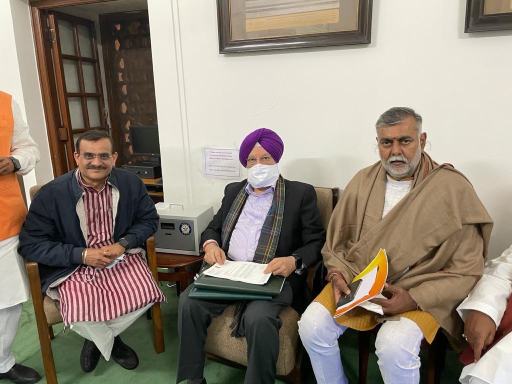 केंद्रीय नागरिक उड्डयन मंत्री श्री हरदीप सिंह पुरी जी से मुलाकात