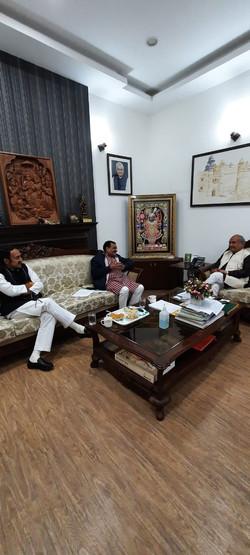 केंद्रीय कृषि मंत्री श्री नरेंद्र सिंह तोमर जी मुलाकात..