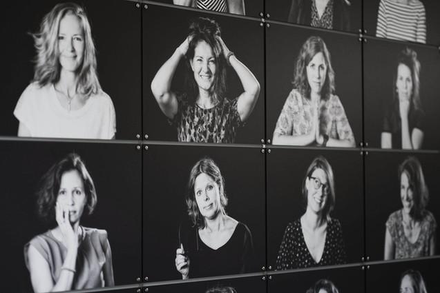 Collage met zwart-wit foto's