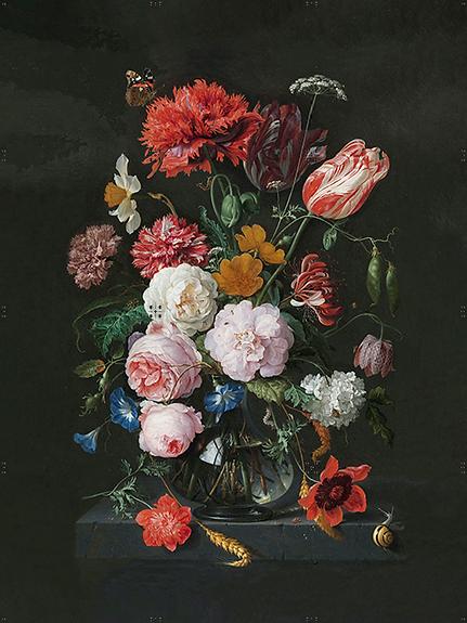 FERBYN collage 'Stilleven van bloemen' van Jan Davidsz de Heem