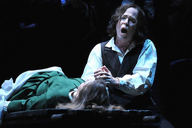 Vale Rideout as Edgardo in Central City Opera's production of Lucia di Lammermoor
