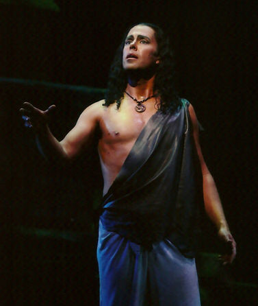 Vale Rideout as Nadir in HOT's production of The Pearl Fishers