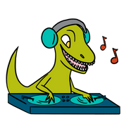 CCA LRC DJ Dino Mascot 2019