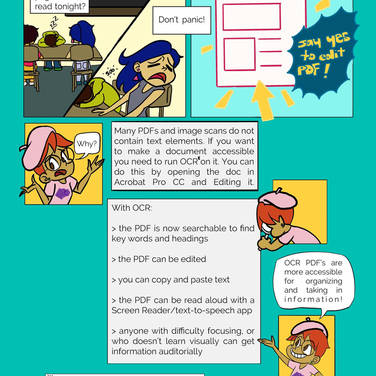 CCA LRC Universal Design for Learning comic 2019