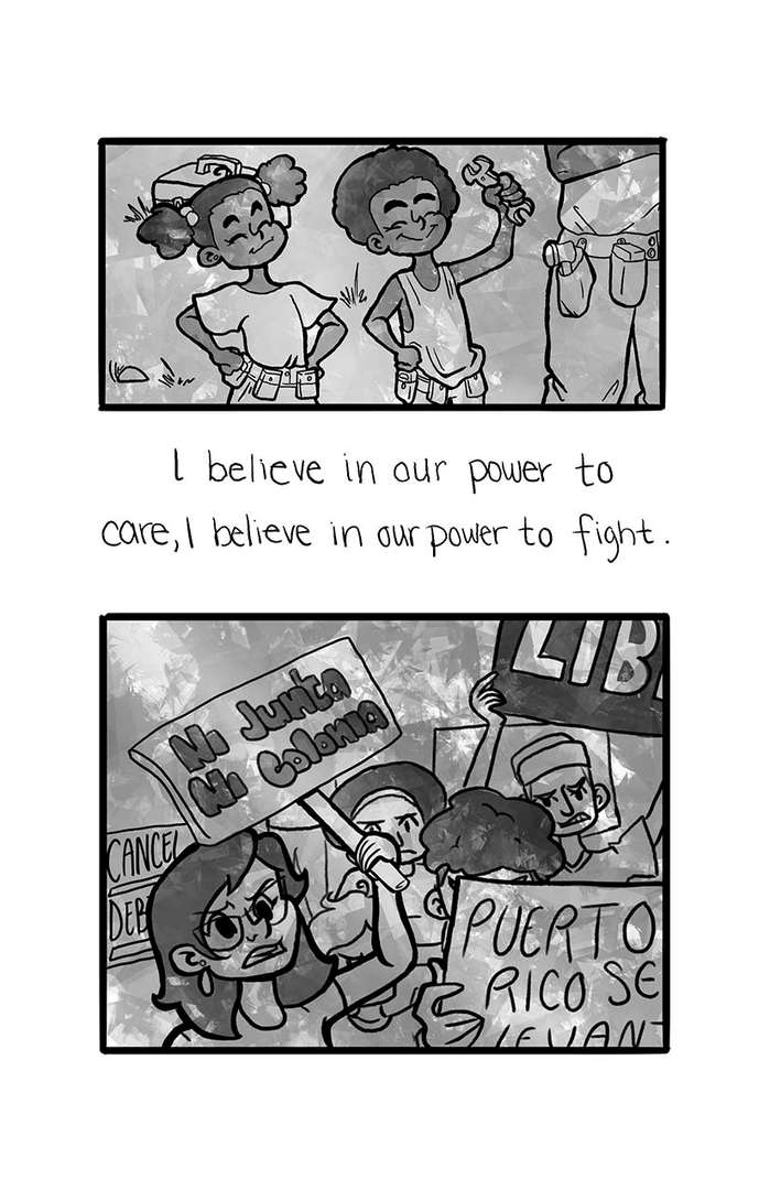 Unidos comic submission, Lazerzine issue 7: People Power