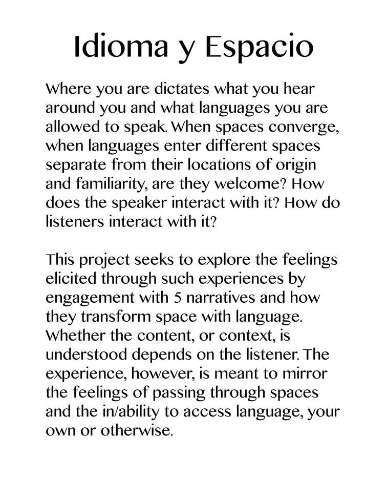 Idioma y Espacio