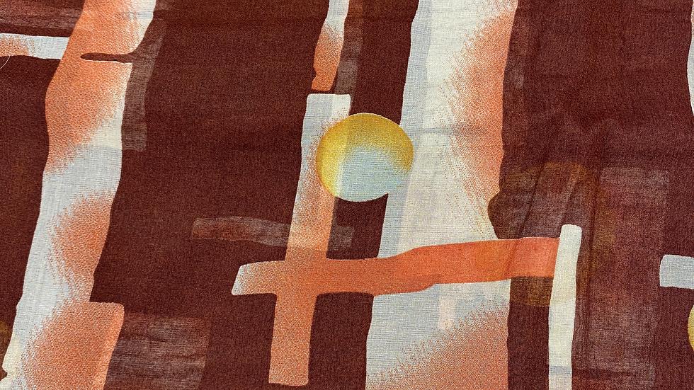Brown Moon Printed Voile