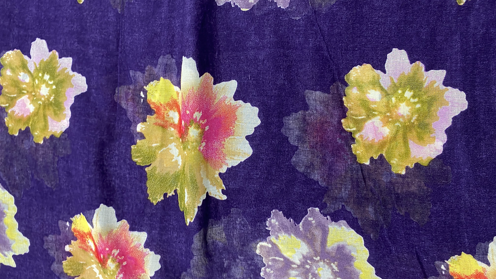 Purple Rain Printed Voile