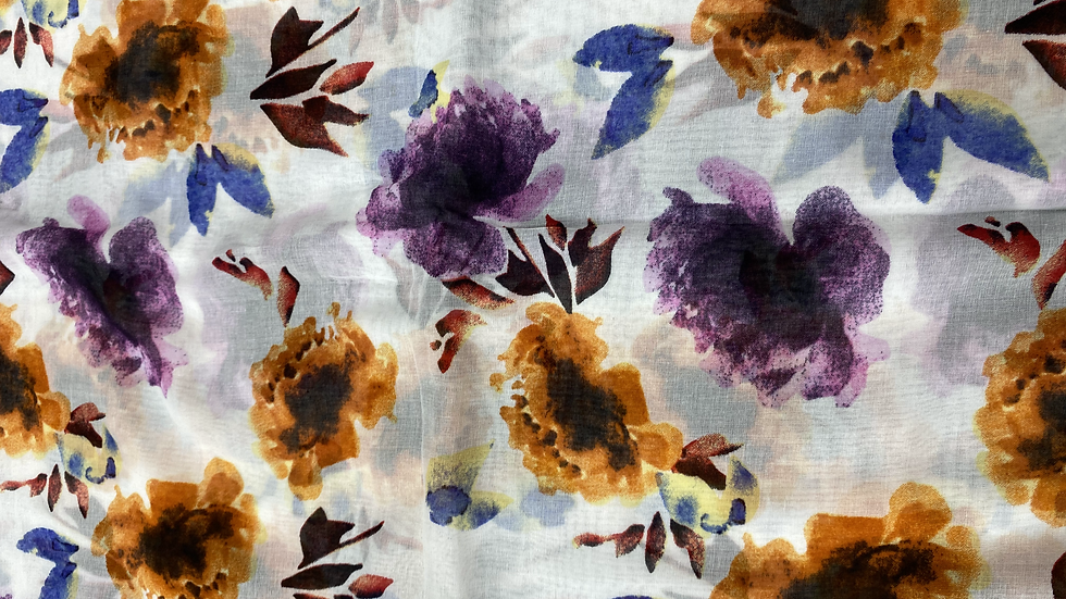 Floral Corbynista Printed Voile