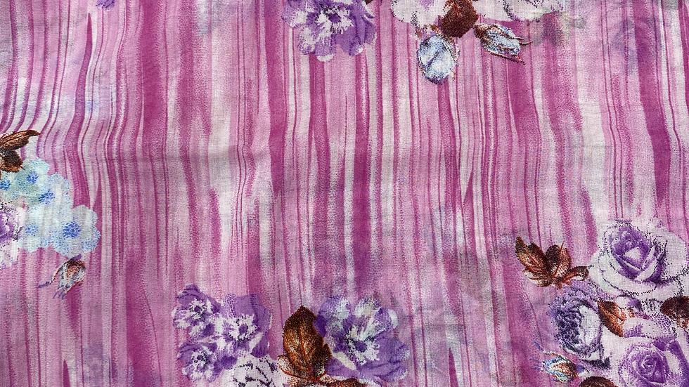 Pink Ocean Printed Voile