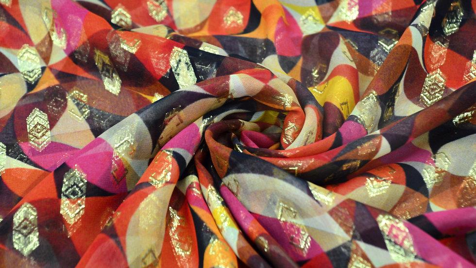 Kaleidoscope Fusion Silk Chiffon
