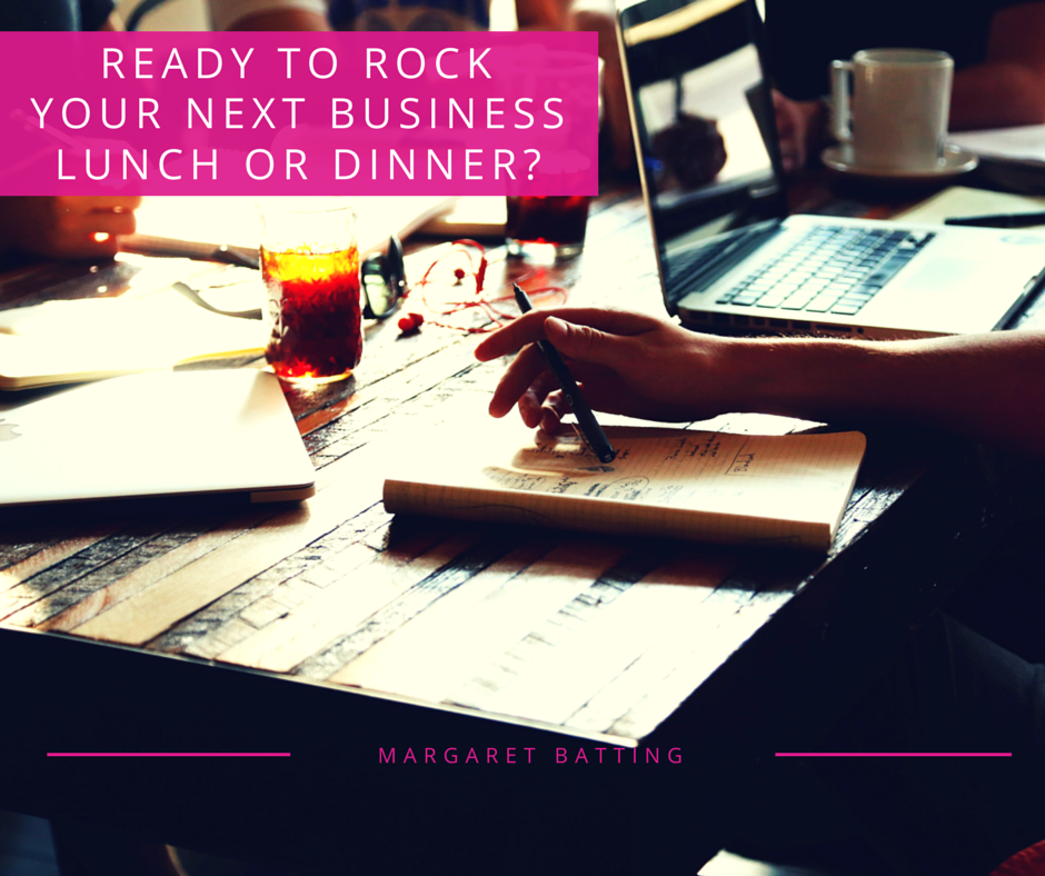 Rock Your Next Business Lunch Or Dinner