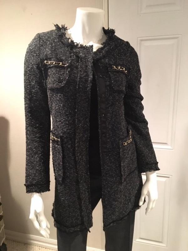 Long women's blazer coat