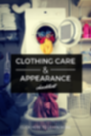 Clothing Care & Appearance Checklist