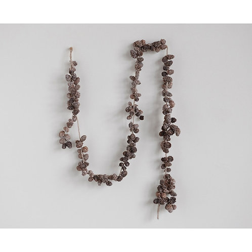 Frosted Pinecone Garland