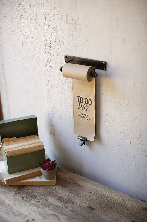 Small Hanging Note Roll with Brass Clip