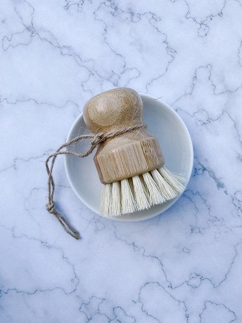 Wood Scrub Brush & Dish Set