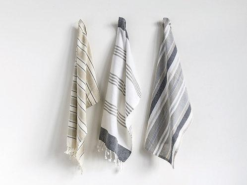 Set of 3 Cotton Striped Tea Towels