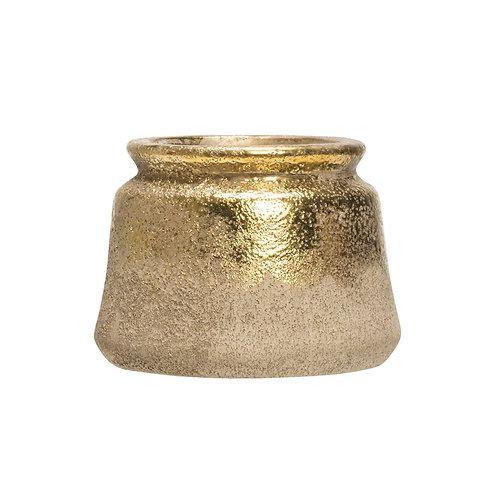 Distressed Gold Terra Cotta Pot