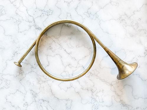 FOUND Antique Brass Horn