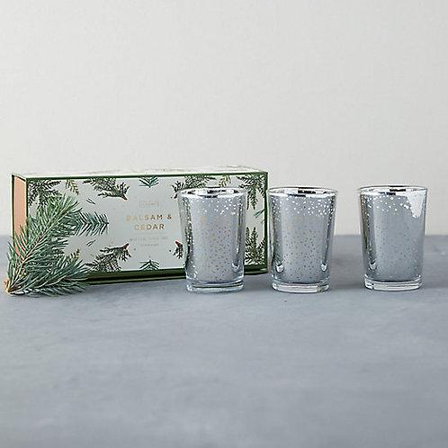 Illume Mercury Glass Trio Candle Set