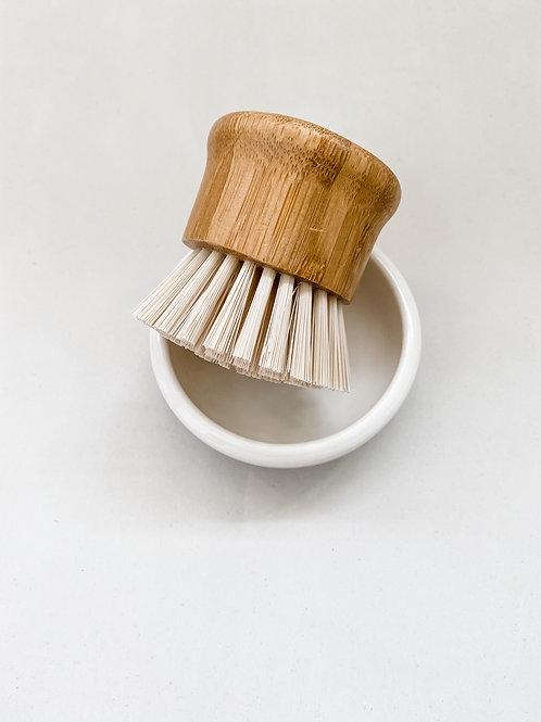 Beech Wood Scrub Brush & Dish Set