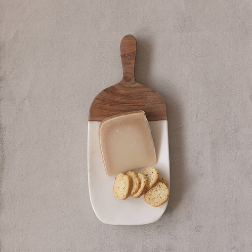 Marble & Acacia Wood Board with Handle