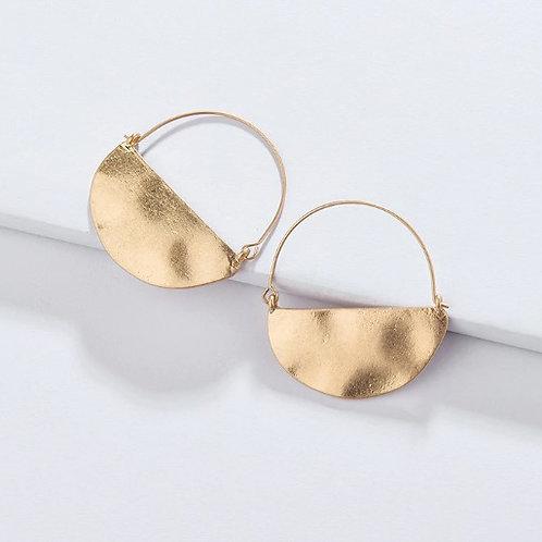 Hammered Half Circle Earrings