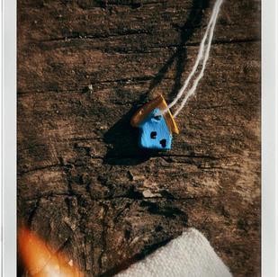 Căsuță albastră din lut 1.5cm