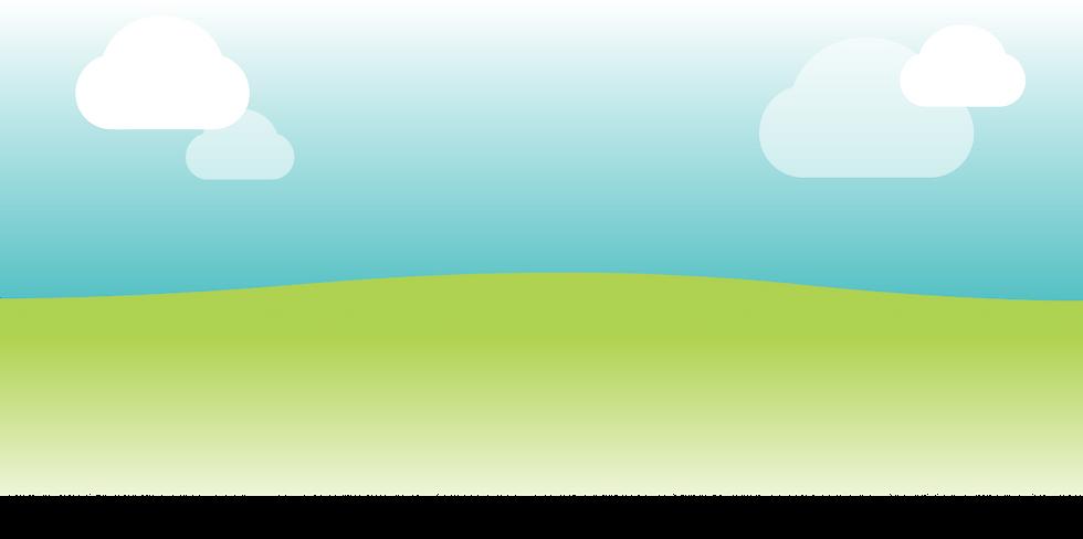 Blue sky, green grass, green environment