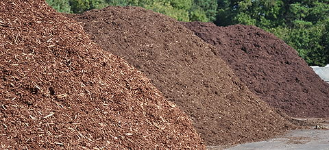 compost, topsoil, and mulch