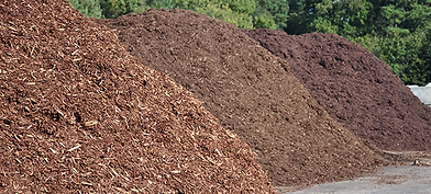 Compost, topsoil, and mulch piles