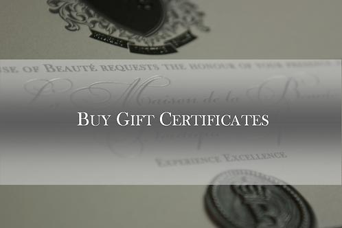 Facial Gift Certificate