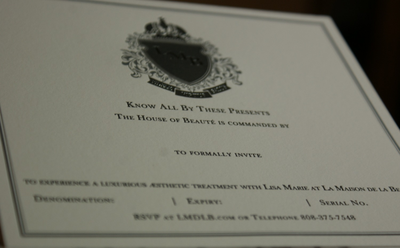 Gift Certificate Insert