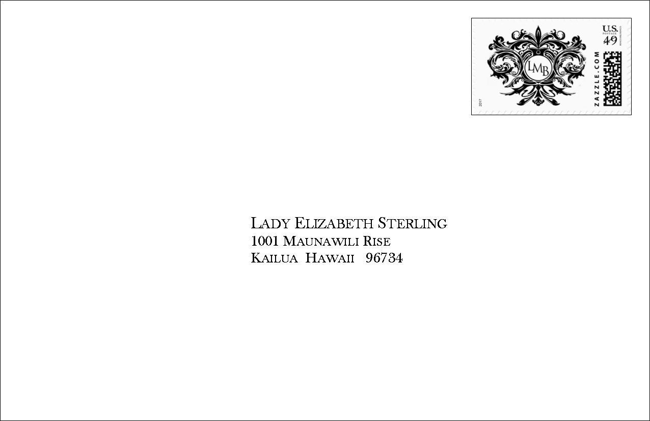 Envelope, Front