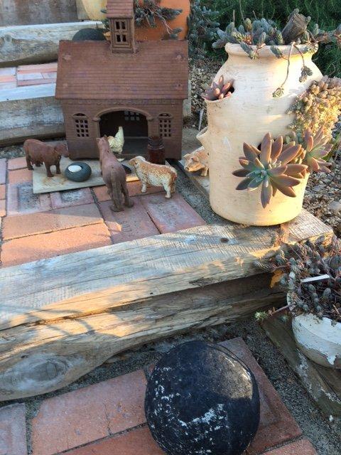 Elisa's garden art