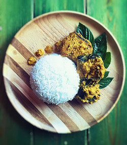 Jasmine rice with BBQ sting ray