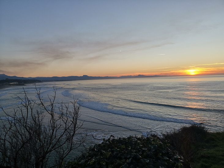 Coucher de soleil plage des basques