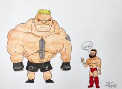 Finn vs Brock