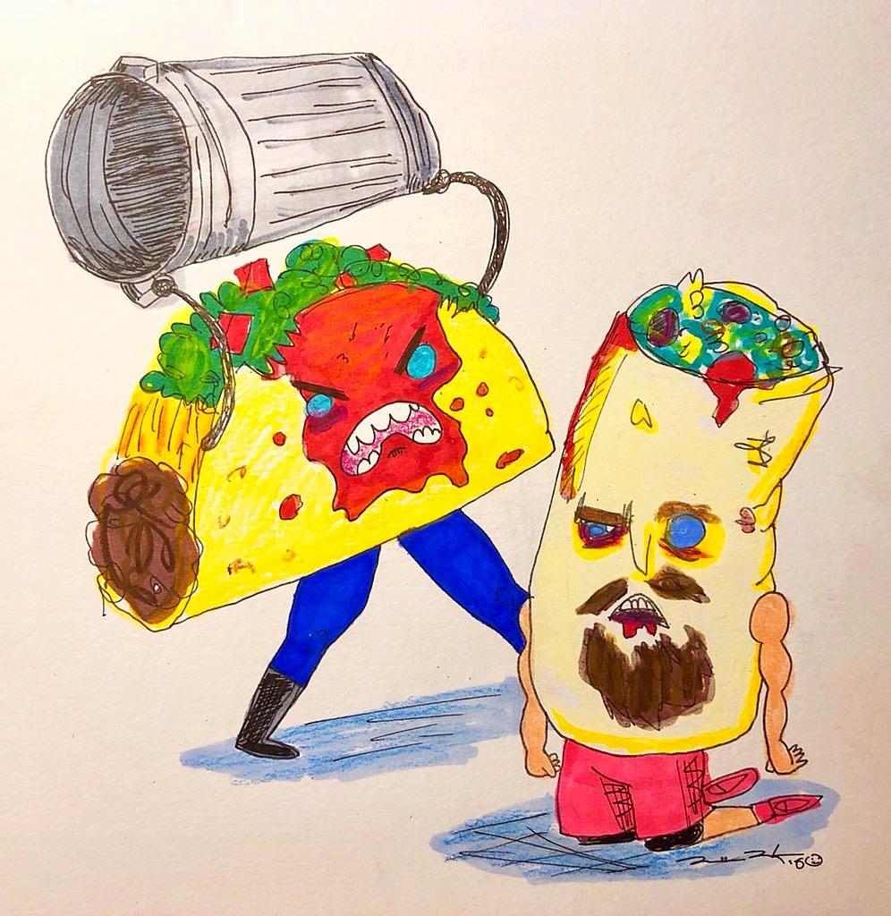Taco Street Fight