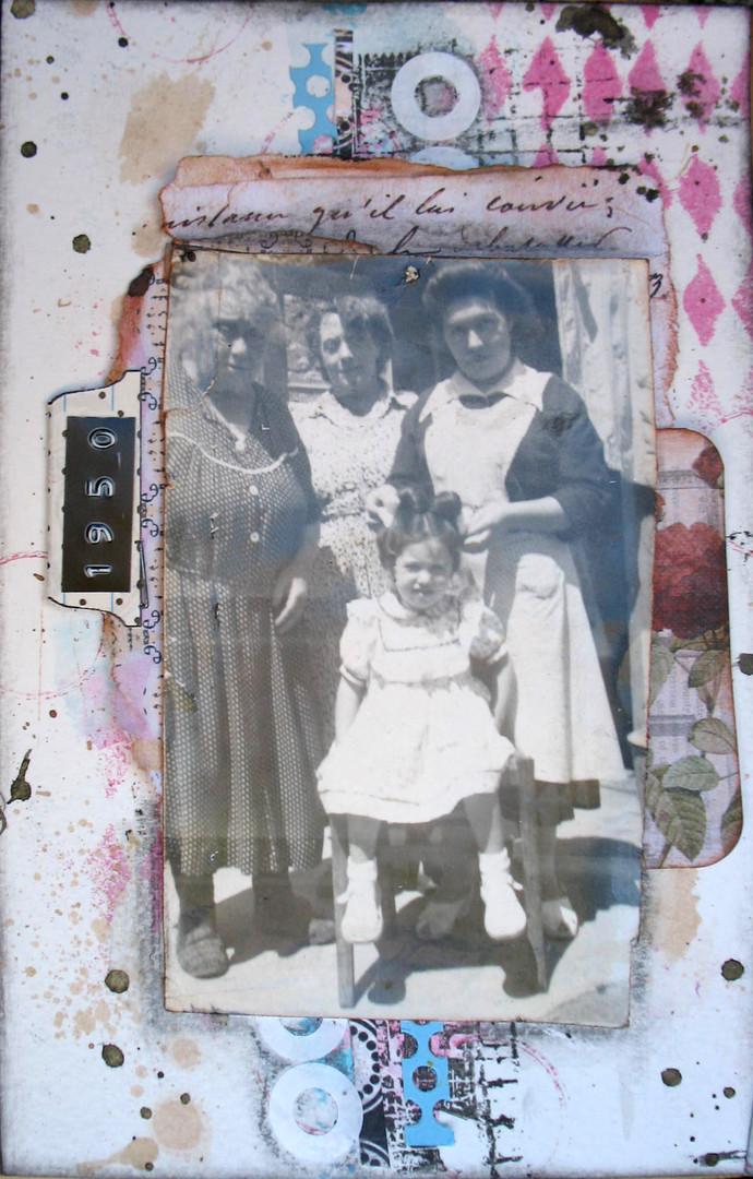 4 générations de femmes