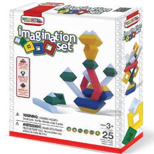 """Конструктор WEDGITS """"Imagination Set"""" 25 деталей"""