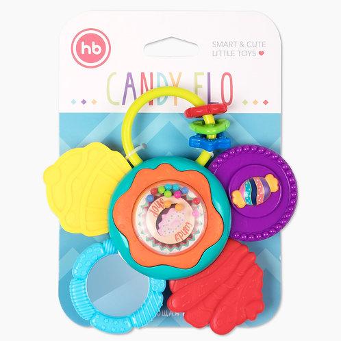 Развивающая игрушка погремушка CANDY FLO