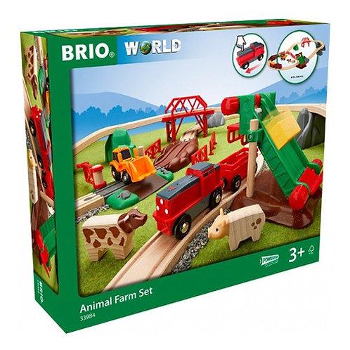 BRIO Набор Сельское поселение с поездом на батарейках