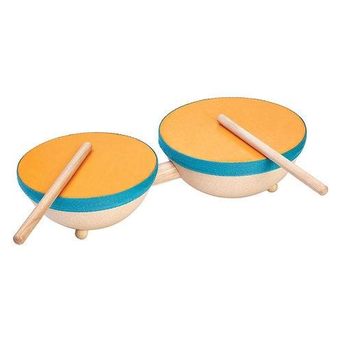 Двойной барабан Plan Toys