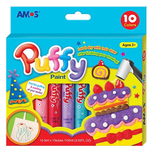 КРАСКИ объемные «PUFFY»,в наборе10 цветов