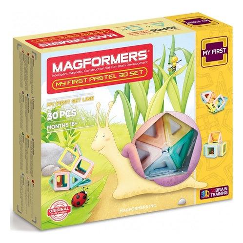 Магнитный конструктор MAGFORMERS MY FIRST PASTEL 30