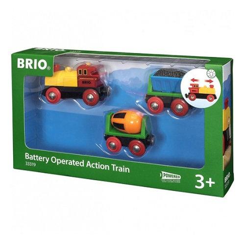 BRIO Товарный поезд на батарейках