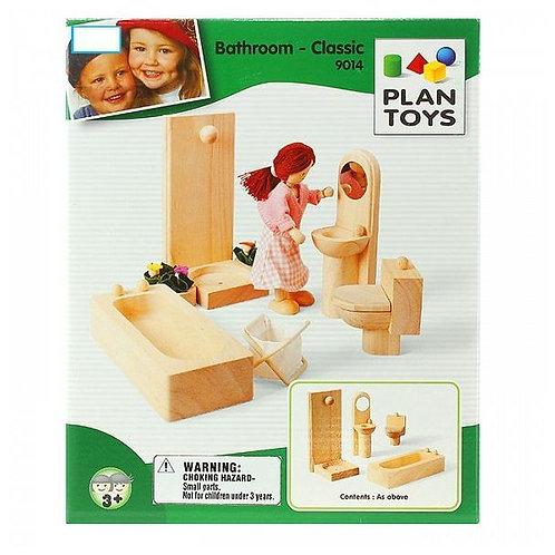 """Мебель для кукольного дома Plan Toys """"Ванная комната Классик"""""""
